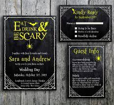 spooktacular halloween wedding invitations glitter u0027n spice