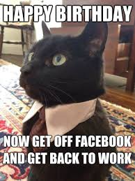 Birthday Memes For Facebook - happy birthday cat blackcat funny birthday memes facebook