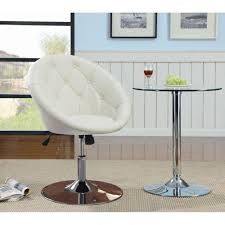 Swivel Tilt Dining Chairs by Dining Chairs And Bar Stools Contemporary Round Tufted White