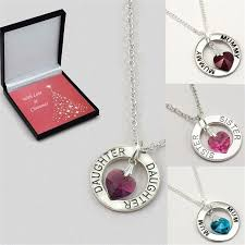 heart ring necklace images Ring necklace with birthstone heart for christmas jewels 4 girls jpg
