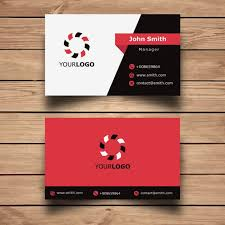 Free Graphics For Business Cards Simple Red Corporate Business Card Free Template Free Vectors