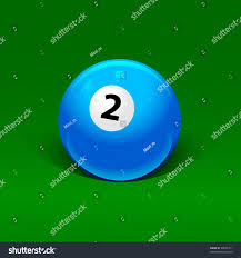Blue Billiard Ball Number Two Stock Vector Shutterstock