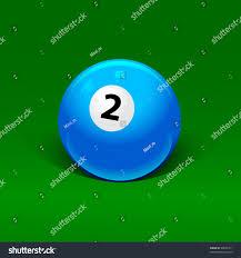 Blue Billiard Ball Number Two Stock Vector Shutterstock