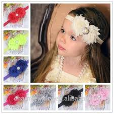 flower bands new shabby chic baby headbands boutique flower elastic hair