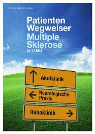 Weserklinik Bad Oeynhausen Patientenwegweiser Multiple Sklerose By Deutscher Medizin Verlag