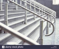 Stainless Steel Banister Stainless Steel Railing And Steps Stock Photo Royalty Free Image