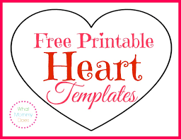 free printable large shapes free printable heart templates large medium small stencils to