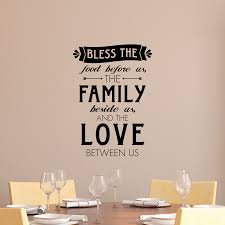 whimsy bless food family love wall quotes decal wallquotes com bless the food before us the family beside us and the love between us