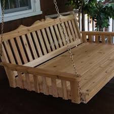 a u0026l furniture royal english 4 foot cedar outdoor swing bed with