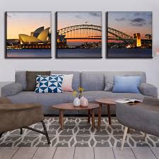 aliexpress com buy 3 pcs set modern wall paintings the sydney