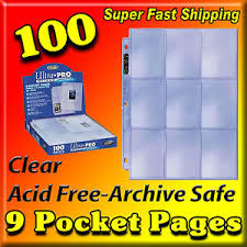 9 pocket pages 100 ultra pro silver 9 pocket sports card pages baseball for