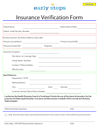 Insurance Inventory List Template Template For Insurance Information In Planner Blank Medical