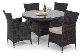 maze rattan miami 4 seat round dining set