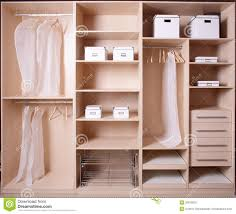 nice interior of wooden wardrobe royalty free stock photo image