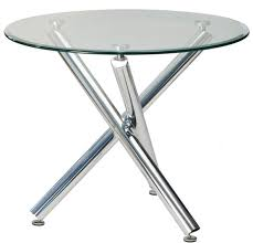 how to make a glass table round glass top dining table with chrome legs home interiors