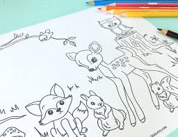 woodland animals colouring pages page 2 coloring pages woodland