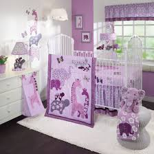 Jungle Themed Nursery Bedding Sets by Purple Baby Girl Nursery Decorating Ideas With Jungle Themes