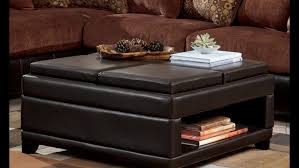 Fabric Storage Ottoman With Tray Ottomans Collapsible Ottoman Target Ottoman With Pull Out Tray