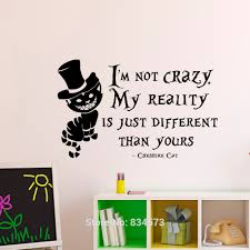 alice in wonderland home decorcheap alice in wonderland home buy alice in wonderland cheshire cat quote wall art sticker decal home