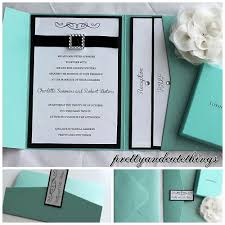 wedding pocket invitations tiffany co shimmer wedding invitations diy pocket cards envelopes
