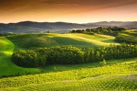 wallpapers tuscany italy nature fields scenery