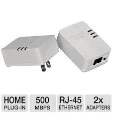 tpl 406e2k buy the trendnet 500mbps compact powerline av adapter kit at