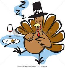 turkey sleeping after thanksgiving dinner clip image
