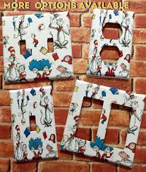 dr seuss cat in the hat light switch plate cover home decor