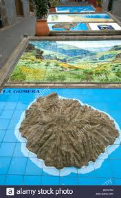 Canary Islands Map Plaster Relief Map Of The Island Of Gran Canaria In Firgas Village