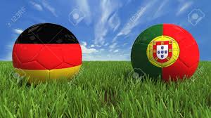 Portugal Football Flag 3d Soccer Balls With Germany And Portugal Flag World Football