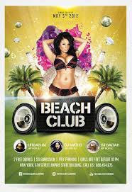summer beach club flyer template