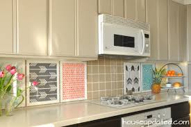 inexpensive backsplash for kitchen diy temporary backsplash house updated