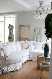 shabby chic slipcovers living room contemporary with great room
