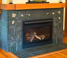Mosaic Tile Fireplace Surround by Like This Palette Of Blue Greens For Fireplace Tile Living Room
