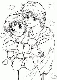 coloring page of anime characters coloring page pedia