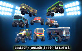 bus monster truck videos crazy monster bus stunt race mod gudang game android apptoko