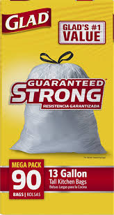 amazon com glad tall kitchen drawstring trash bags 13 gallon