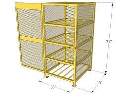 Horizontal Storage Cabinet Gas Cylinder Cage 8 Propane Tanks Horizontal Storage Cbch080jp