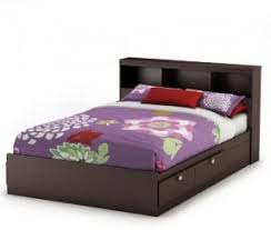 Bookcase Storage Bed Full Size Bed With Bookcase Headboard Foter