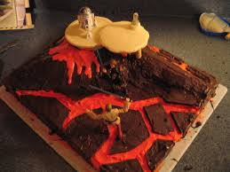 star wars cake mustafar 7 steps with pictures