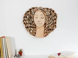 home decor wall sculptures saatchi art wall decoration ceramic woman face sculpture wall
