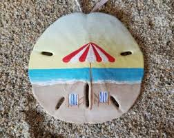 seashore unique painted sand dollar ornament by thesandshoppe