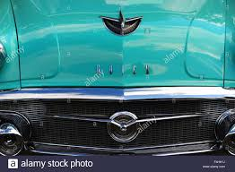 the front end of the 1956 buick with chrome bumper and