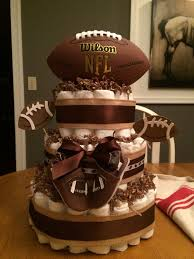 Diaper Cake Decorations For Baby Shower Best 25 Football Diaper Cakes Ideas On Pinterest Sports Theme