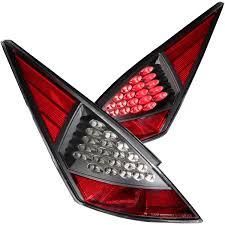 nissan 350z xenon headlights anzo usa nissan 350z 03 05 l e d tail lights black