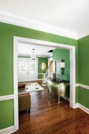 decoration green wall paint with white trim wooden flooring 1 well