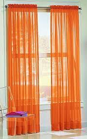 And Orange Curtains Dreamkingdom Solid Orange Sheer Curtains Drape