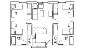 floor plans for bathrooms 4 bed 2 bath apt apartment creek apartments