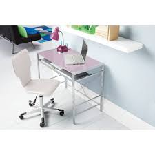 Glass Topped Computer Desk by Mainstays Glass Top Desk Multiple Colors Lavender Blush Chair Is
