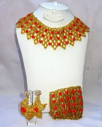 wedding jewelry necklace sets images Monalisa stylish african queen beads jewellery set jpg